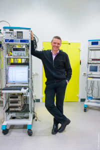 Alexey Ustinov in the Laboratory for superconducting metamaterials